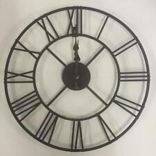 Large Black Wall Clock large roman big vintage black skeleton wall clock 120cm diameter