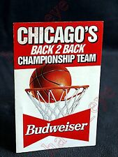 1992-93 Chicago BULLS NBA Pocket SCHEDULE Back 2 Back JORDAN Pippen Nice