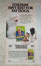 1978 print ad -Fit & Trim cute shaggy dog pet food Vintage Purina Ralston ADVERT