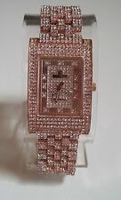 Rose Gold finish  Hip Hop Bling Ice Out rapper fashion style inspired watch