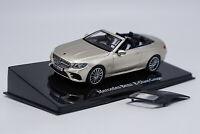 1/43 Mercedes-Benz E-Class Coupe Cabriolet Gold Diecast Car Model Collection