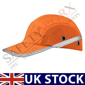 Orange Hi Vis Mesh Bump Cap Safety Baseball Cap Head Protective Hard Hat Vented
