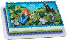 Disney Pixar Brave Merida, Angus, Bear Triplets Cake Topper Retired Sealed 2012