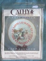 Farm Kingdom Cathy Needlecraft Stamped Cross Stitch Kit # 0413 NIP
