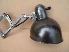Restaurierte 20er KAISER IDELL 6718 Scherenlampe im Industriedesign Wand Lampe