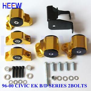 2bolt ENGINE TORQUE MOTOR MOUNT KIT BRACKET EK FOR 96-00 HONDA CIVIC D16 B16 B18