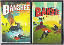 BANSHEE: SEASON 1 & 2 DVD HBO TV SERIES (2,4 DISC SETS) USED ONCE,