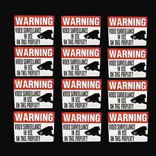 HOME YARD VIDEO SECURITY  CAMERA WARNING STICKER LOT