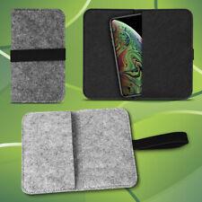 Filz Tasche für Apple iPhone Xs Max Hülle Schutz Cover Case Handy Schutzhülle