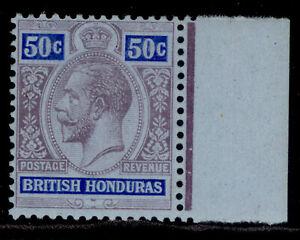BRITISH HONDURAS GV SG107, 50c purple & blue/blue, LH MINT. Cat £35.