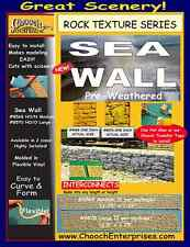Chooch (HO/O Scale) #8570 Sea Wall Large Stone Flexible Wall (Pkg-2) NIB