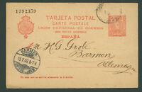 Spanien Espana 1903 Postkarte TARJETA POSTAL 10 Cs. Barcelona nach Deutschland