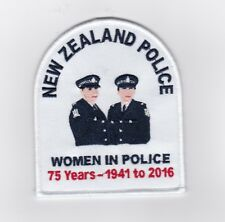 New Zealand Police Women in Police 75 Years Patch (social)