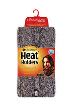 Women's Heat Holders 3.4 tog Thermal Cable Knit Neck Warmer Fawn Beige