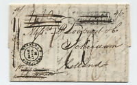 1819 Boston to Netherlands stampless ship herald double circle handstamp [45.162