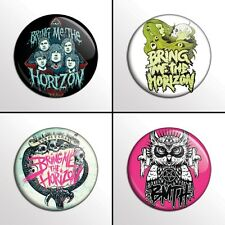 "4-Piece Bring Me The Horizon (BMTH 2) 1"" Band Pinback Buttons / Pins / Badge Set"