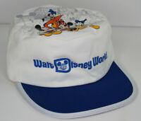 Vtg 80s Disney World Mickey Goofy Minnie Donald Epcot Castle Painters Cap Hat
