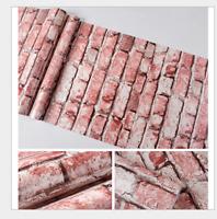 Vinyl 3D Faux Brick Wallpaper Red/White for Home Kitchen Living Room Decor