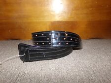 New listing Don Hume Duty Belt Size 28 Suede Lined Black Gloss Finish (Missing Buckle)
