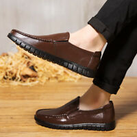 Mens Faux Leather Slip On Casual Dating Shoes Work Business Party Comfy Shoes US