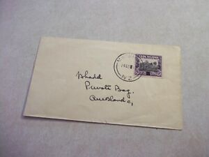 Tiny MANIHIKI COOK ISLANDS Cover To New Zealand 1940 Overprint Stamp