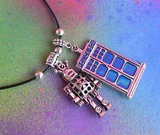 Blue Call Box Cybermen Pendant Necklace Dr Who Tardis Necklace Bbc Tv Doctor