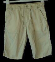 Boys H&M Beige Drawstring Waist Chino Cotton Long Board Shorts Age 5-6 Years