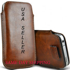 Leather Case New Model Pouch Pull Tab Case For Apple iPhone 5 5G