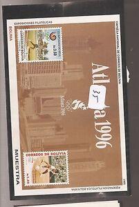 Bolivia 1996 Olympics Michel Bl 217 overprint Muestra Specimen MNH (35cah)