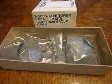 Tichy Train Group #2600-2 N Wood Water Tank Kit (2 pack)