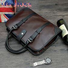 Mens Vintage Leather Travel Shoulder Business Briefcase Bag Messenger Tote Bag