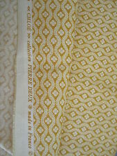 "58"" W Gorgeous Pierre Deux Yellow Gold Chloe French Country Toile Fleur Fabric"