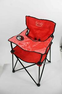 Jamberly Group Ciao! Baby Red 23 x 23 x 32 Open Poly Portable High Chair 855A