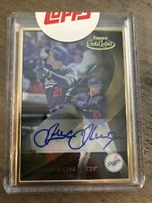 Trayce Thompson 2016 Topps Gold Label - Certified Autograph Issue Auto RC Rookie