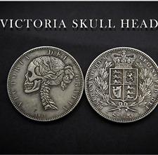 Victoria Skull Head Coin by Men Zi Magic