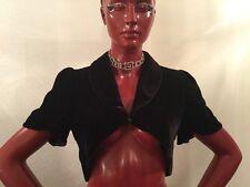 """TEMPERLEY London Black Velvet """"Lilia"""" Shrug. U. S. Women Size 4. Made In Poland"""