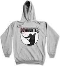 BOWHUNTER HOODIE SWEATSHIRT Hunter Deer Bear Hunting Sport Rack Rifle Hunt