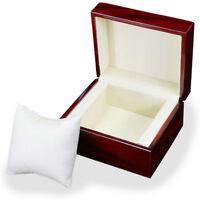 Luxury Single Slot Wooden Wood Watch Case Wristwatch Box Organizer Storage Gift