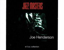 CD JOE HENDERSON jazz masters 1998 EX