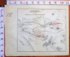BOER WAR ERA MAP/BATTLE PLAN FREDERIKSTAD ATTACKED BY DEWET OCT 21-25 FUSILIERS