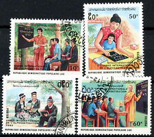 Laos 1990 SG#1175-8 Literacy Year Cto Used Set #A84830