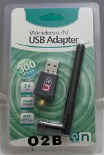 USB Wlan Stick Wifi Wireless Adapter 300Mbit Wlan Antenne Windows  2,4GHz Dongle