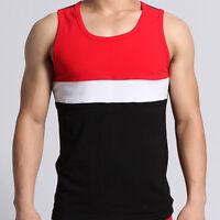 SEOBEAN Cotton Mens big Striped Hot Sleeveless Vest Tank Top Tee T-shirt