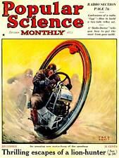 "Copertina della rivista ""Science"" popolari MONO RUOTA BIKE USA art print poster bb9398"