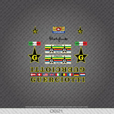 0821 Guerciotti Bicycle Stickers - Decals - Transfers - Black/Yellow