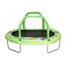 Green 38-in x 66-in Mini Oval Trampoline with Rust Resistant Galvanized Frame