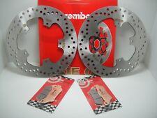 BRE11 KIT DISCHI FRENO BREMBO ANTERIORI + PASTIGLIE GILERA NEXUS 500 2004 2005