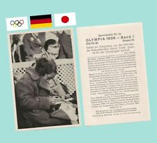 1936 Garmisch Olympics Etsuko Inada Skater - Sammelwerk Olympia Card 54-I-62 MT