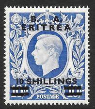 Brit. Occ. It. Colonies (Eritrea) 1950 10s. on 10/- Ultramarine SG E25 (Mint)