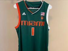 Miami Hurricanes Adidas NCAA Men's Swingman Basketball Jersey Size L